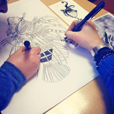 Atelier collège - élève de 6ème - atelier dessin scientifique