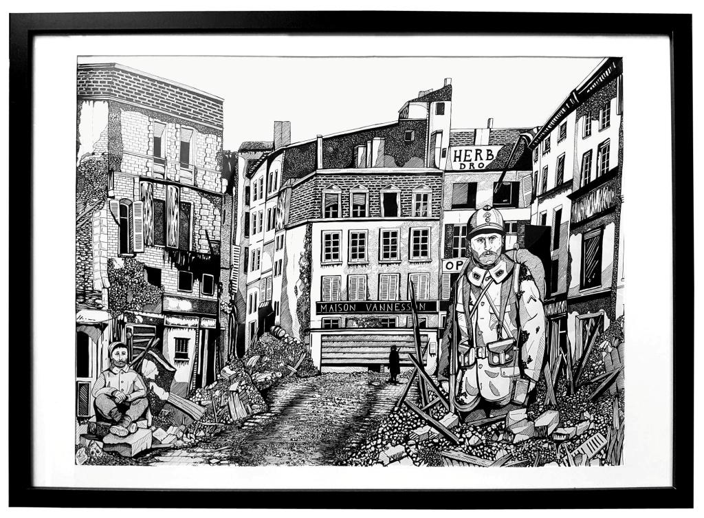 Déconstruction - 65x50 -  Salon des Peintres de l'Armée 2017 -  Original disponible