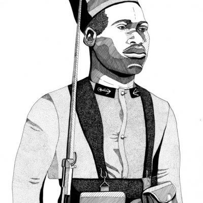 Tirailleur Sénégalais - Format A3 - ORIGINAL VENDU