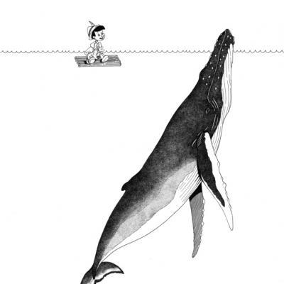 Pinocchio et la Baleine (commande)