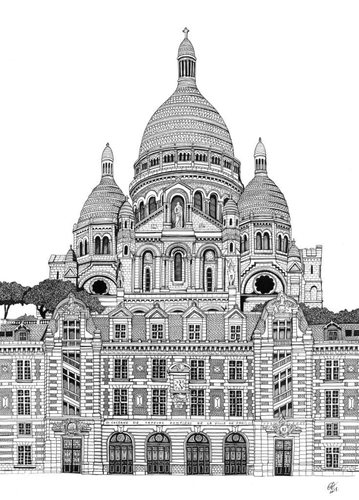 Basilique du Sacré Coeur et Caserne Carpeaux - A3