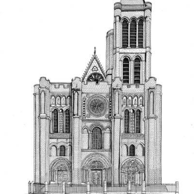 Basilique Saint-Denis - A3 - Oeuvre réalisée pour les Sapeurs Pompiers de Paris