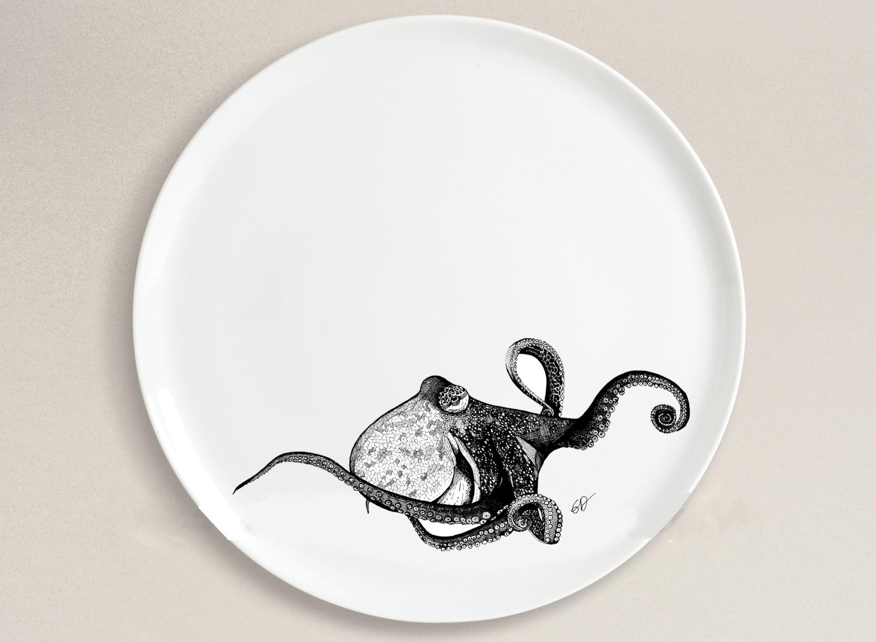Assiette poulpe 4