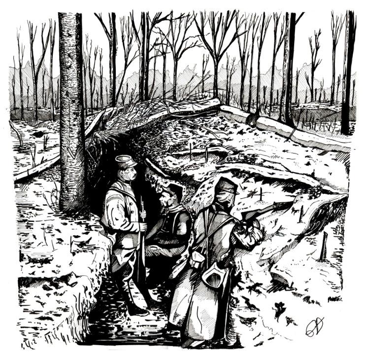 Dessin hiver 1914