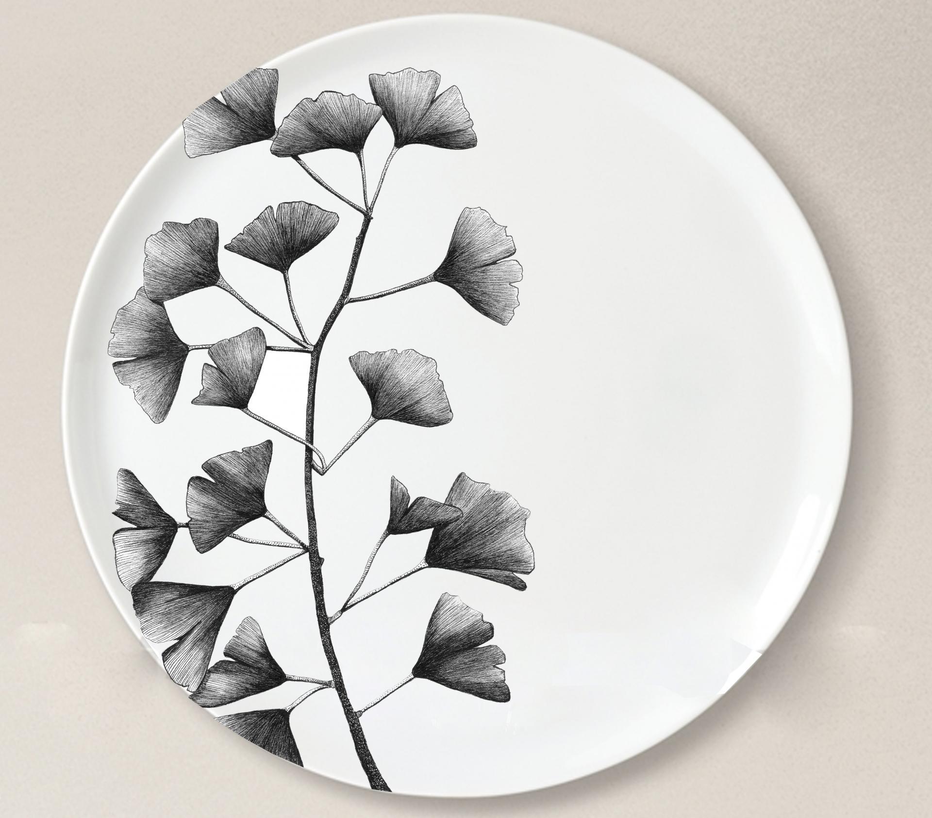 Porcelaine gingko 1